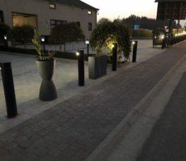 Bâtiment parking locataires nuit