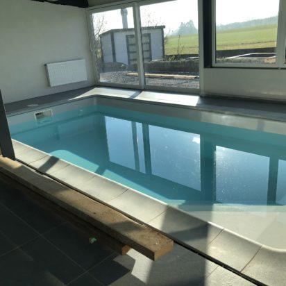 Vue piscine fin travaux